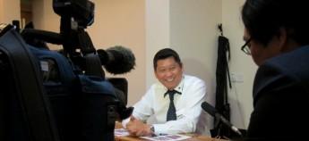 李桑接受NHK采访。