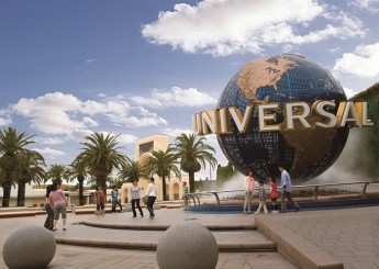 The signature sign of Universal Studios.