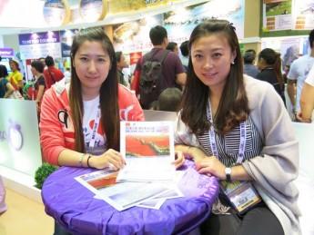 来自哈尔滨的孙宇(右)及关莹(左)。