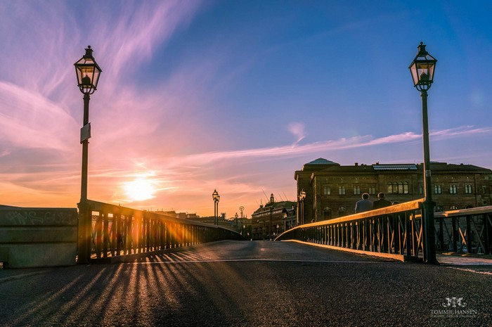 Skeppsholmsbron at Sunset, Stockholm