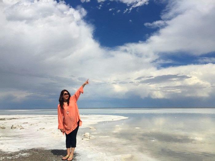 美国犹他州博纳维尔盐湖平原;1万2141平方公里的天然景观。