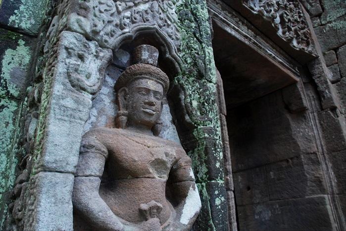 瓦普寺的美丽浮雕。