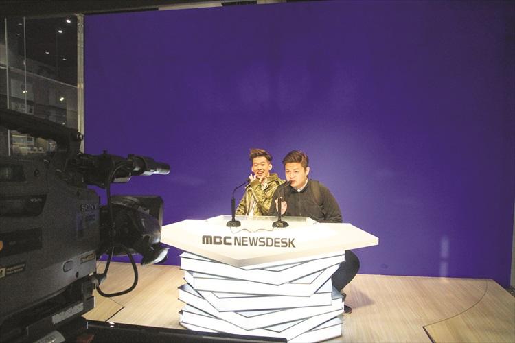 MBC有多个体验设备,如体验当主播、穿韩服、学习跳韩国舞蹈等。