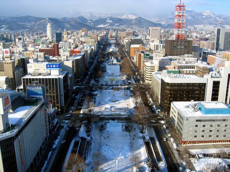 札幌市区的大通公园。