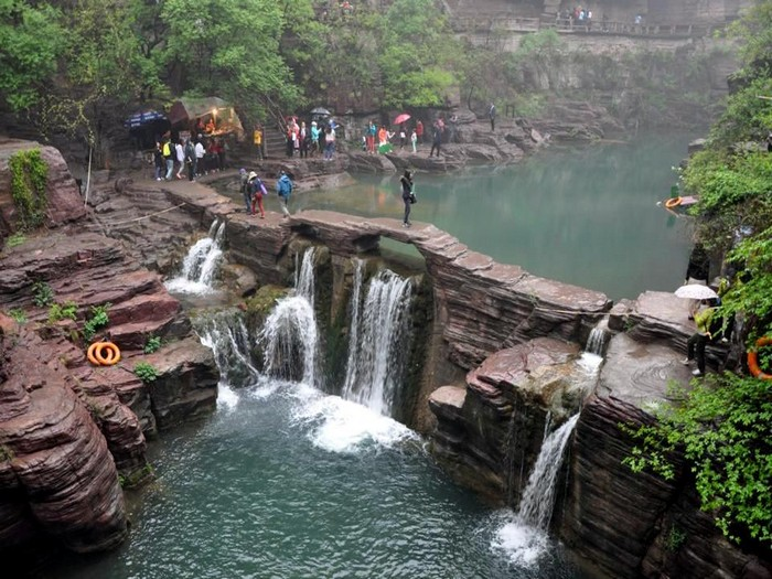 云台山最具代表性的景观之一。