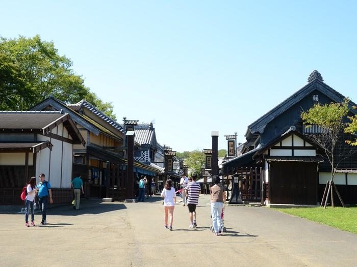 登别伊达时代村致力重现江户时代的街角风貌。