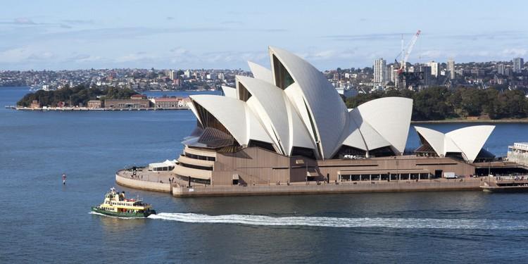 闻名世界的悉尼歌剧院。