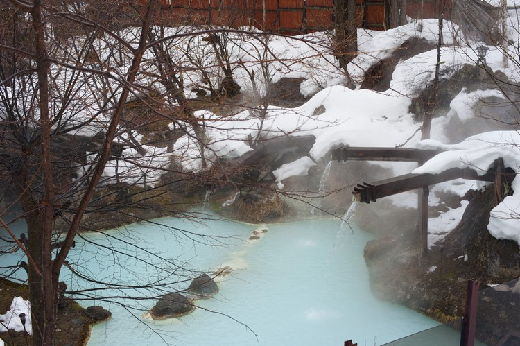Shirahone Onsen geothermal bathing spa pools