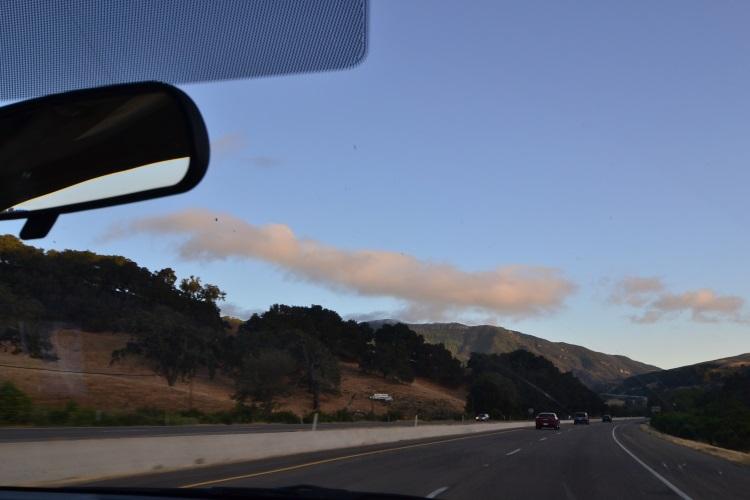 开往圣地亚哥的路段,一路开到天黑开到凌晨。