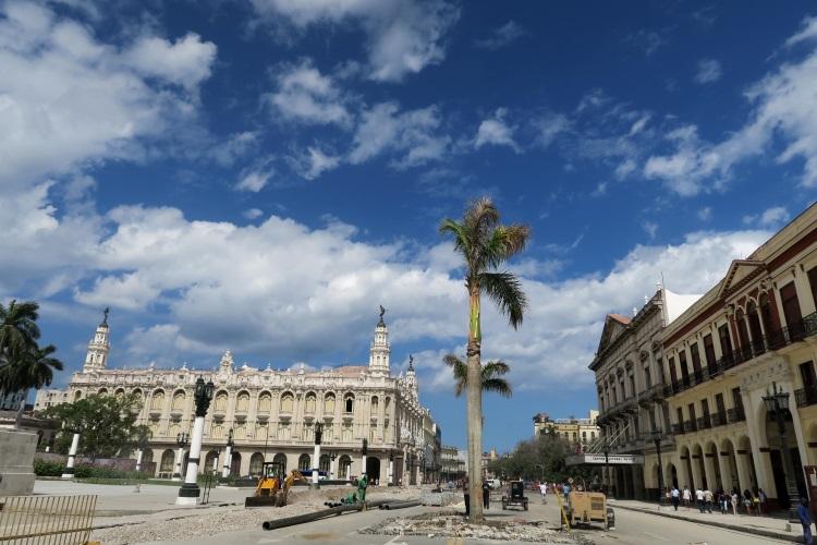 为了古巴美国复交;国会大楼附近的道路与建筑物,改头换面。