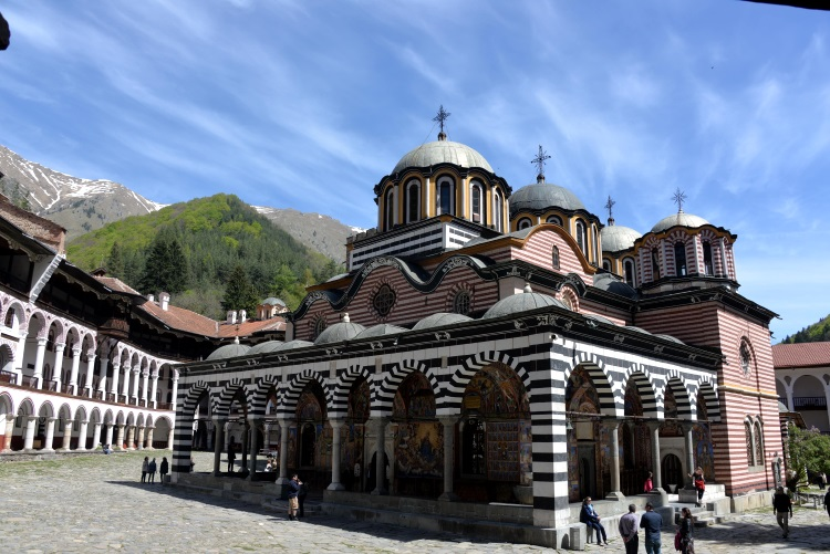 "The inscription of Rila Monastery as UNESCO World Cultural Heritage is the pride of Bulgarians. In the main church ""Nativity of the Virgin Mary"", there are impressive wall-paintings. The church, tower and courtyards are surrounded by the monastery. The whole complex is designed with a concept of lines."