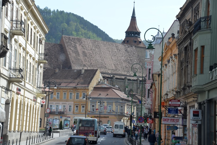 Brasov – 160km away from Bucharest. Follow the pedestrian street from the old quarters to the beautiful square and the famous town hall.