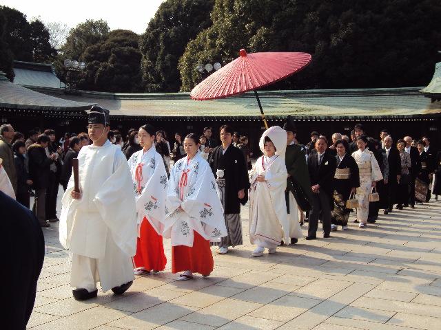 日本人神前式传统婚礼