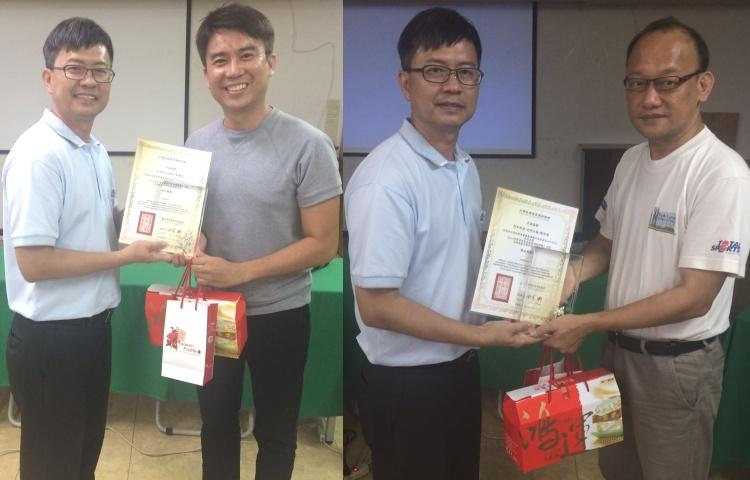 左起:陈国俊 ‧ 爱FM; 陈添荣 ‧ 《光明日报》