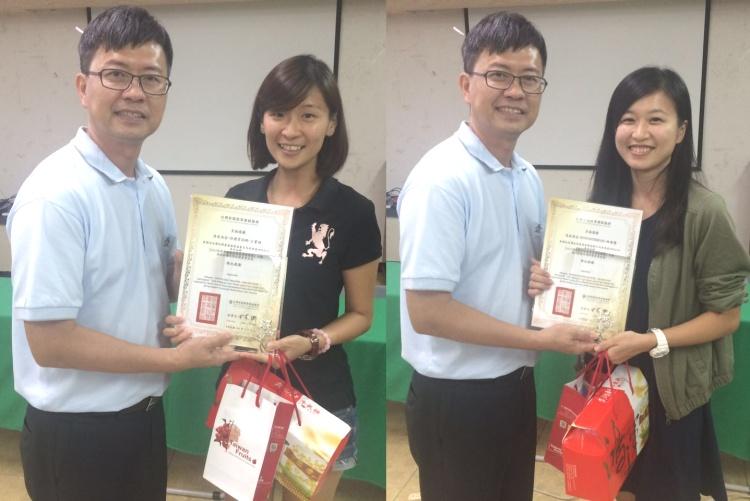 左起:王宝碹 ‧ 佳礼资讯网; 林敏慧 ‧ MINTONROAD