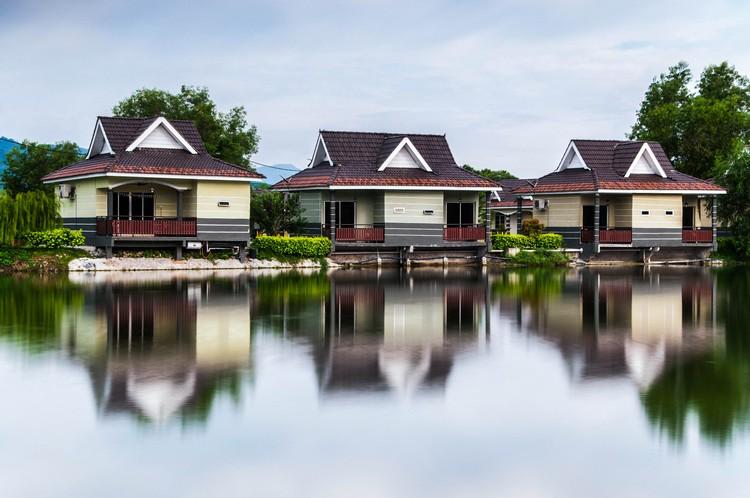 休闲农庄建有21间渡假屋,部分渡假屋设有阳台。