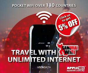 SAMURAI WIFI - Pocket WiFi Over 110 Countries - Travel with Unlimited Internet