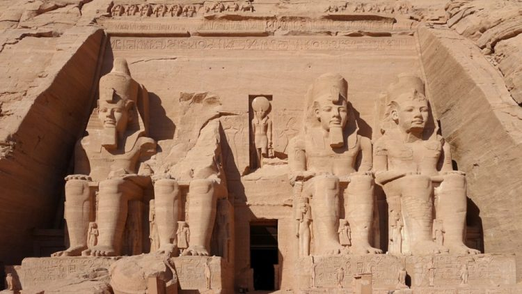 More than 3,000 years old, the magnificent Abu Simbel, originally carved from the stone hill face on the west bank of the Nile, was moved to its present site in the 60s. (Photo: Public domain)