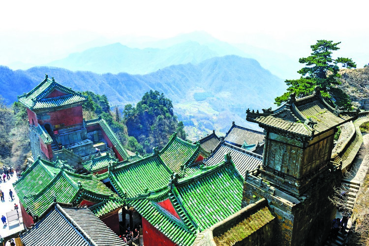 56597241 - wudang mountains of china