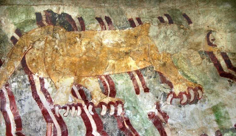 墙上绘图透露着当时的生活气息,也是考古学家得以着手了解其中秘密的管道之一。