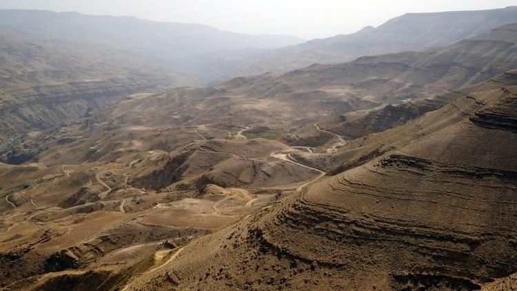 Wadi Mujib,约旦的大峡谷。