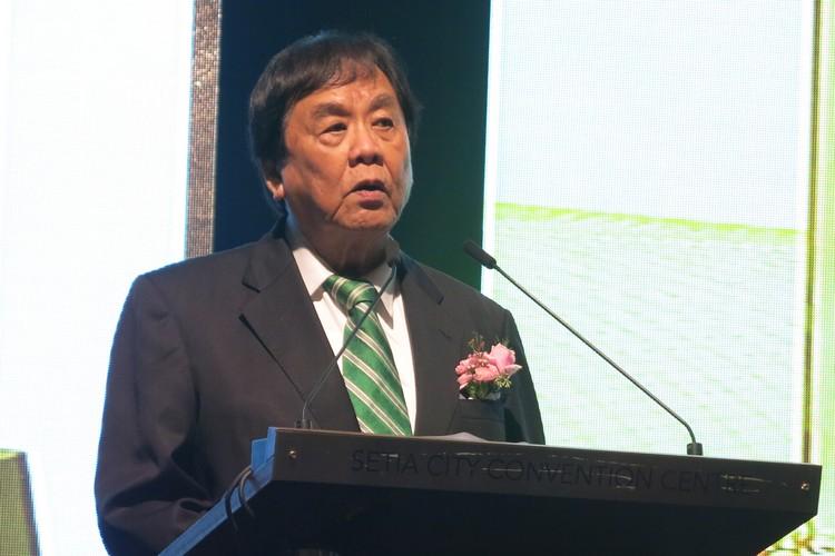 世华媒体集团兼星洲媒体集团执行主席丹斯里張晓卿爵士致词。
