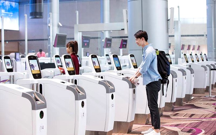 Singapore's Changi Airport now has a fully automated departure clearance process - Changi Airports