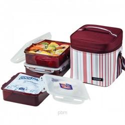 Lock & Lock 1.2L x 3 Lunch Box Set