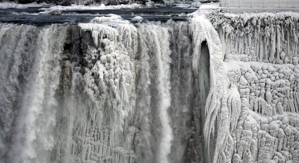 这图片显示在美国一侧的的尼亚加拉大瀑布。
