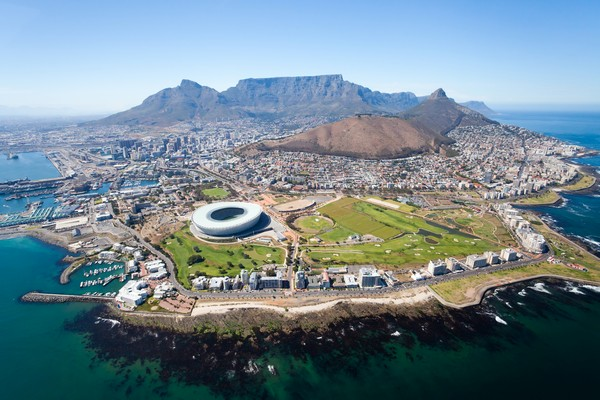 3 overall aerial view of Cape Town, South Africa