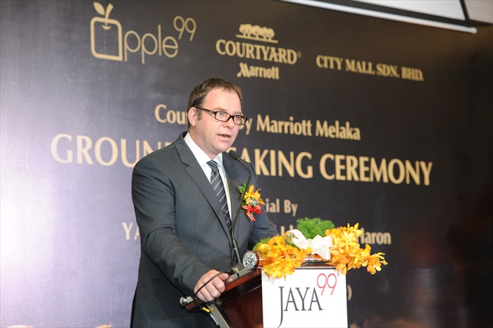 豪国际酒店亚太区发展部副总裁,彼得·加斯纳(Peter Gassner)致词
