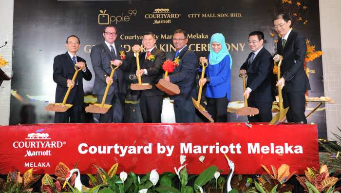 APPLE 99 Announces Ground Breaking For COURTYARD BY MARRIOTT MELAKA In Malaysia