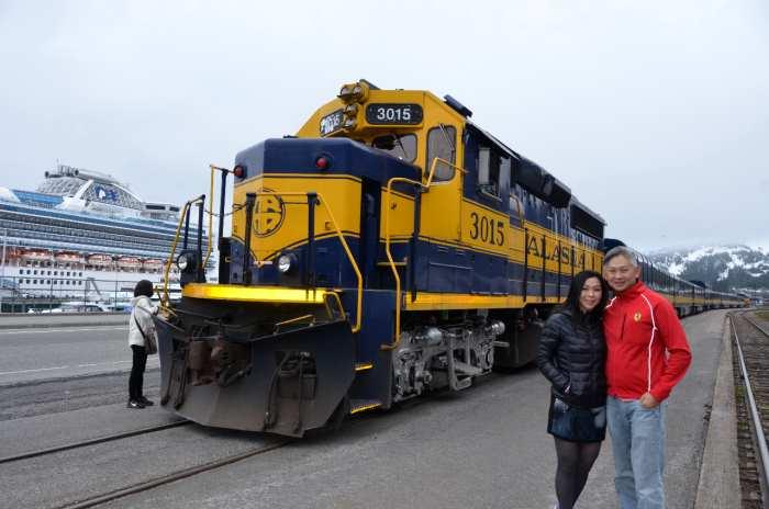阿拉斯加铁道森林火车。