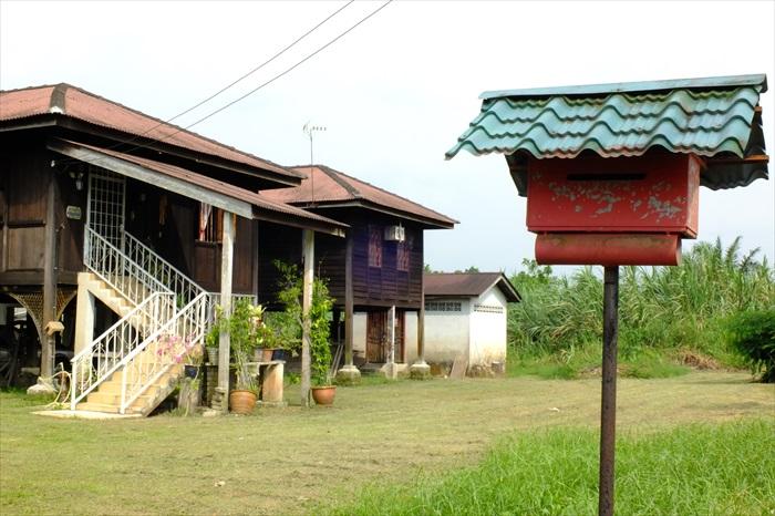 宋溪有许多美丽的马来传统高脚屋。