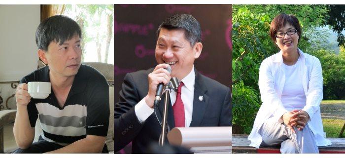 """台湾农场休闲化:第二代的梦想和奋起之路""""分享会点将录:李益辉(中)、游文宏(左),以及邱翔羚(右)"""