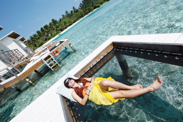 水上别墅,可以直接入海,也可以晒太阳。