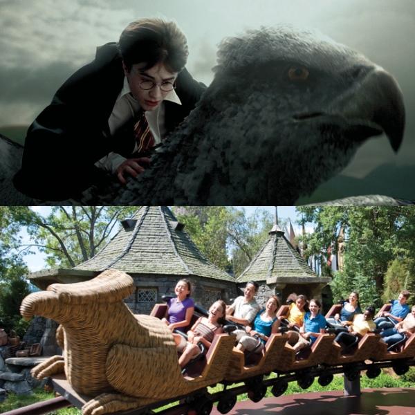 大家可以学哈利骑鹰马。 (摘自互联网和www.universalorlando.com)