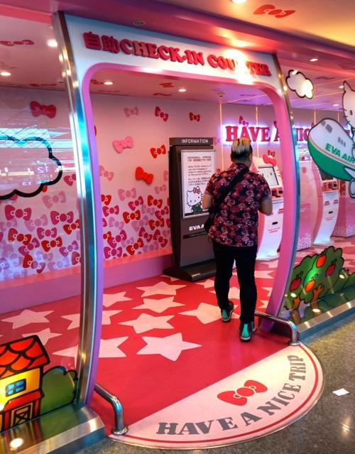 著名的台北桃园机场HELLO KITTY候机厅。