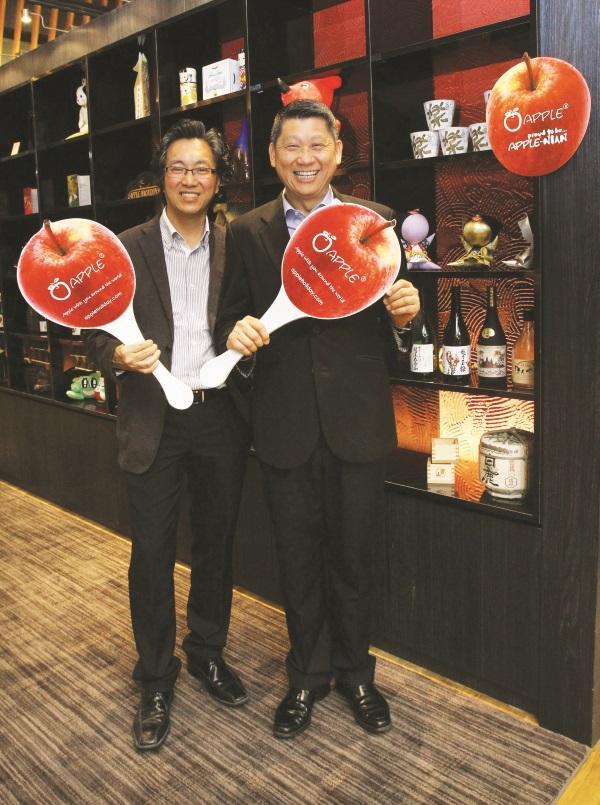 两位拿督斯里,许桑(左)与李桑双剑合壁,打造优质的蘋果旅遊集团。
