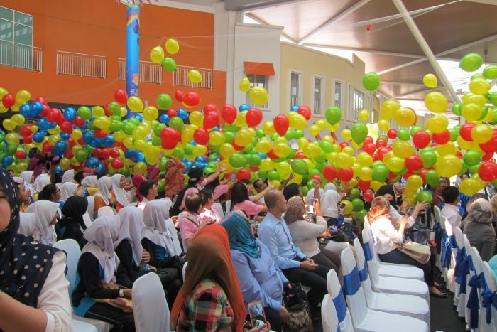 彩色气球落下,寻宝团开始啦!