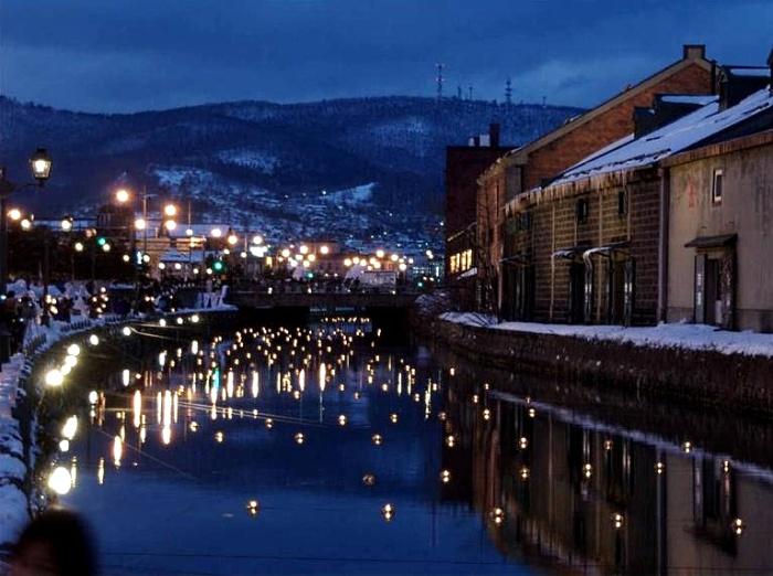 浪漫怀旧的小樽运河
