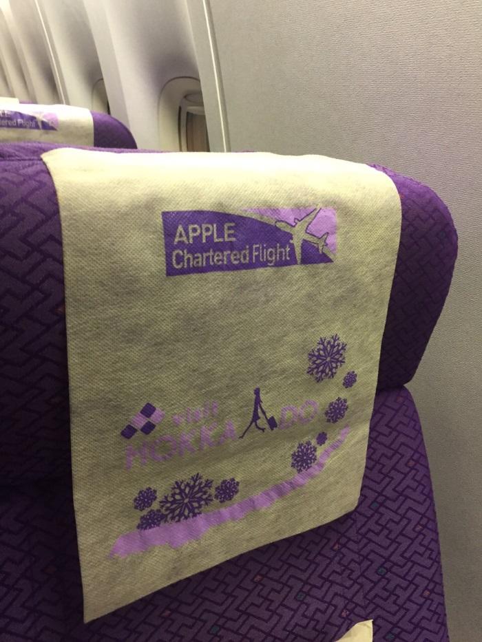 蘋果旅遊精心制作的包机头套。