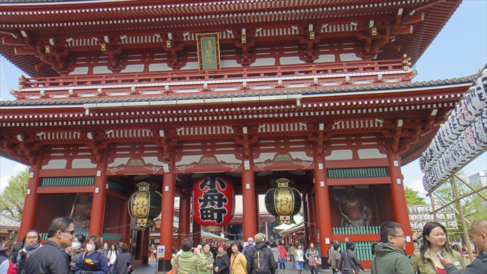 雄伟的浅草寺。