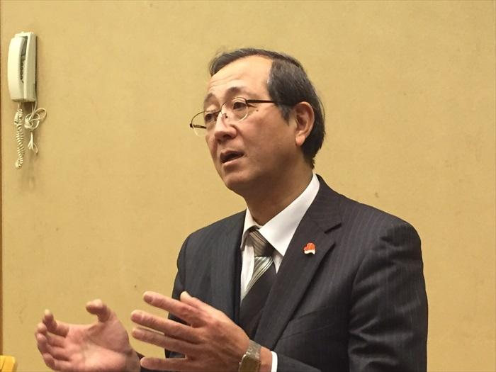 和鸟取县副知事林 昭男会面。