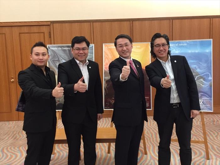 鸟取县知事平井 伸治亲自接待蘋果旅遊。