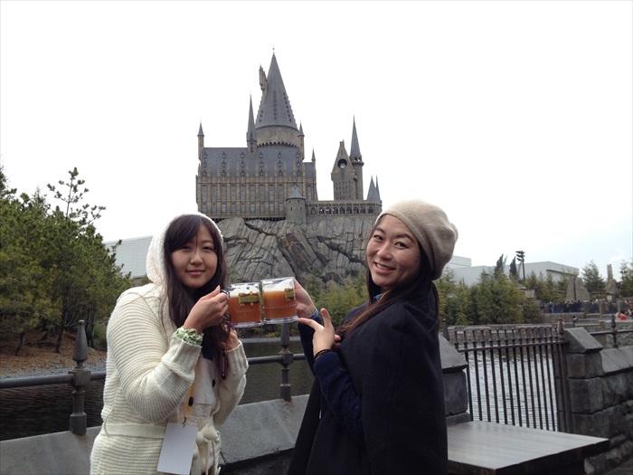 就在那城堡前干杯吧!