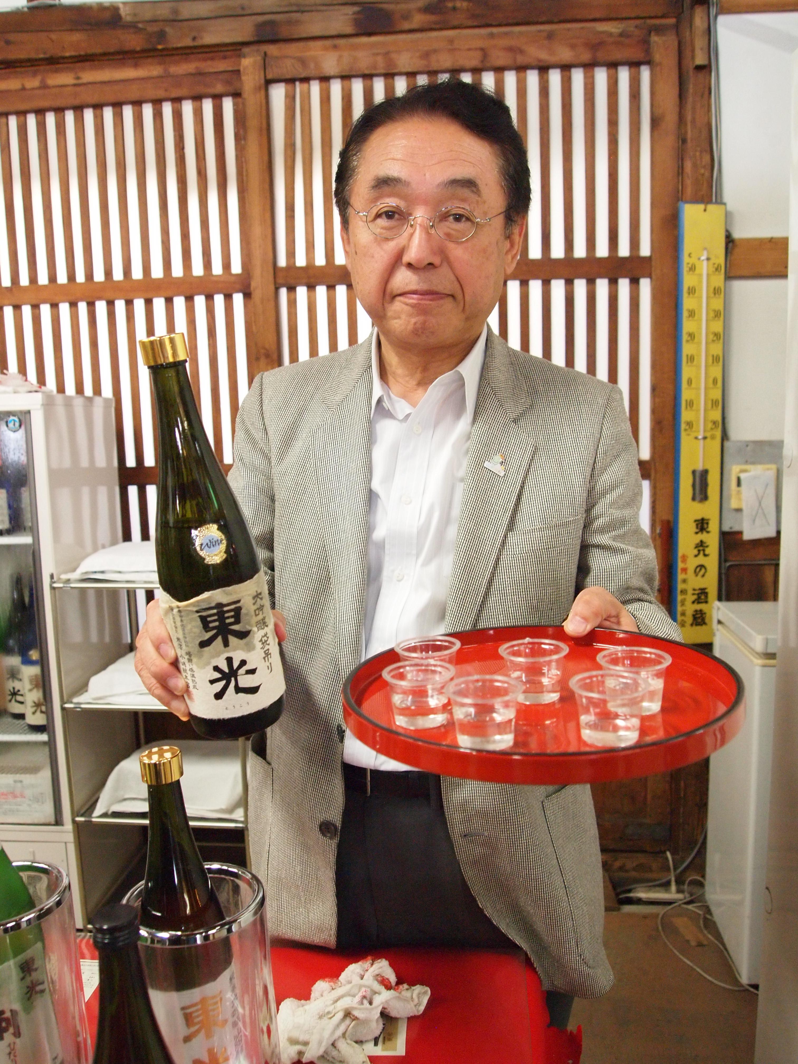 酒造资料馆的馆长小岛弥左卫门先生,也是东光の酒蔵第二十三代的主人,不过目前他已将酒蔵交由儿子掌管。