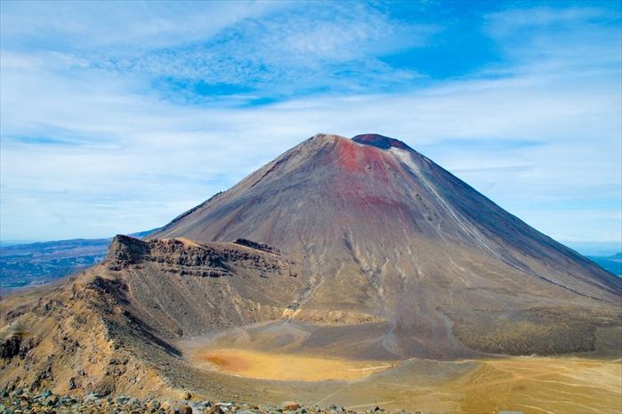 这就是Mt. Ngauruhoe,和电影里加了电脑特技的Mt. Doom末日火山相象吗?就要这样徒手爬上这座火山,是不是很恐怖呢?