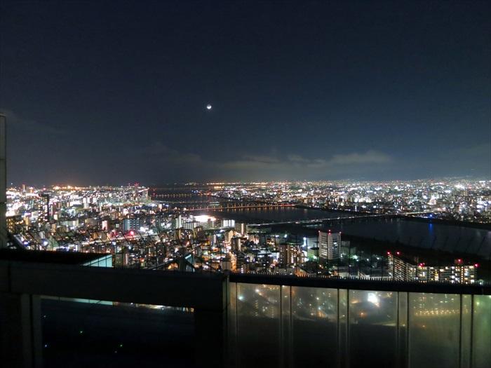 今晚的月色被大都会的灯光给比下去了。