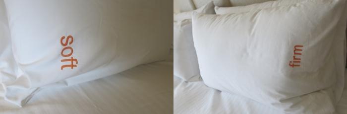 有的酒店会准备好两款枕头供住客选择。